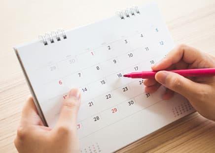 キレイモの月額制プランの来店頻度(通うペース)は2ヵ月に1回