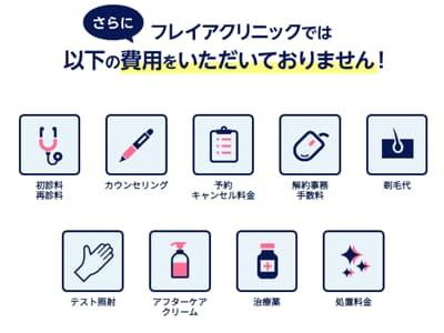 フレイアクリニック 追加料金0円